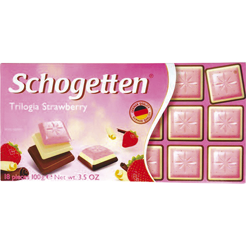 《即期2020.10.31 Schogetten》草莓巧克力三部曲(100g)