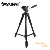 《SAMURAI》Traveller 8000攝錄影腳架(中管可當單腳架)