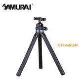 《SAMURAI》X FreeStyle 纏繞軟管旅遊小腳架(附手機夾)