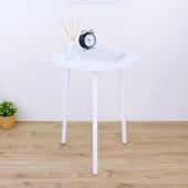 《頂堅》寬60x高76/公分-圓形餐桌/洽談桌/工作桌/玄關桌(三色可選)(素雅白色)