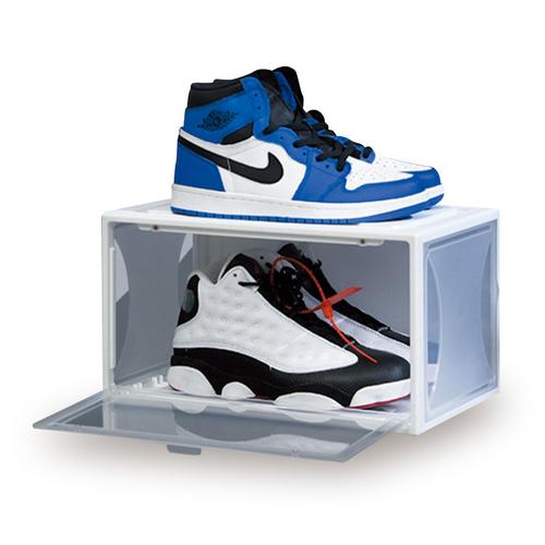 磁吸掀蓋鞋盒3入組 加高款(黑 36.8X26X21.4cm)