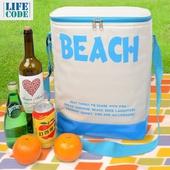 BEACH高桶保冰袋23L(藍 30X21X36cm)