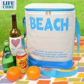 BEACH高桶保冰袋23L藍 30X21X36cm $250