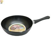 《月陽》台灣製造黑太郎24cm深型樹脂不沾鍋炒菜鍋平底鍋(KG00403)