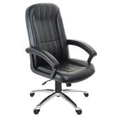 《GXG》高背皮面 電腦椅 (鋁合金腳座/防刮輪)TW-1009 LU(黑色)