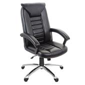 《GXG》高背皮面 電腦椅 (鋁合金腳座/防刮輪) TW-1032 LU(黑色)