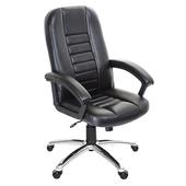 《GXG》高背皮面 電腦椅 (鋁合金腳座/防刮輪) TW-1021 LU(黑色)