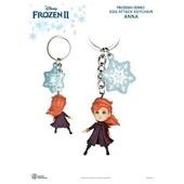 《野獸國》冰雪奇緣II系列 蛋擊公仔鑰匙圈系列(安娜)