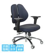 《GXG》短背涼感 雙背椅 (鋁腳/3D升降扶手)  TW-2992 LU9(請備註顏色)