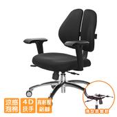 《GXG》人體工學 雙背椅 (鋁腳/4D升降扶手) TW-2991 LU3(請備註顏色)