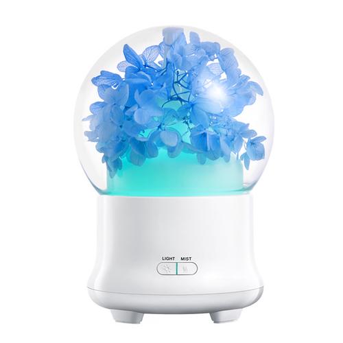 《BESTHOT》永恆花香薰機 加濕器 12x12x16.8cm(繡球藍)