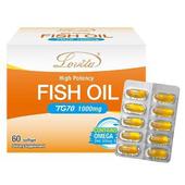 《Lovita 愛維他》TG70魚油 1000mg(60顆)(1盒)買就送:長效C隨身包(3天份)