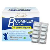 《Lovita 愛維他》男性緩釋型養生活力B群 素食(60錠)(1盒)買就送:長效C隨身包(3天份)