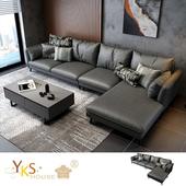 《YKSHOUSE》愛曼達L型布沙發-獨立筒版(兩色可選)(炭灰色)