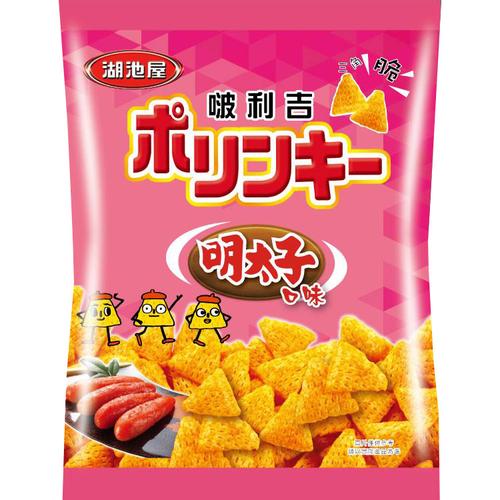 《即期2020.07.11 湖池屋》啵利吉三角脆酥-明太子口味(45g/包)