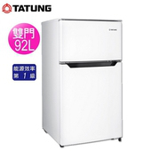 《TATUNG 大同》92公升一級能效雙門冰箱TR-B92HM含拆箱定位)