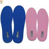 《月陽》超值2入台灣製造厚8mm乳膠通用型可裁剪透氣減震鞋墊(2AB0012)(藍色)