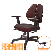 《GXG》人體工學 雙背椅 (2D升降扶手)  TW-2991 E2(請備註顏色)