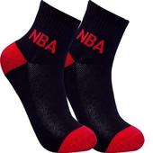 《NBA》休閒緹花網眼毛圈短襪(NSK14-46-BK)