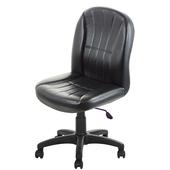 《GXG》短背皮面 無扶手電腦椅 (可後躺/塑膠腳) TW-1012EK(黑色)