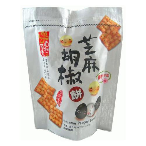 《日香》自然原素-芝麻胡椒餅(100g/包)