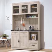 《Homelike》納西4尺石面收納餐櫃