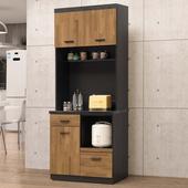 《Homelike》龍柯2.7尺石面收納餐櫃