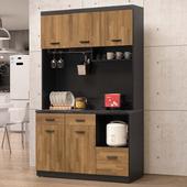 《Homelike》龍柯4尺石面收納餐櫃