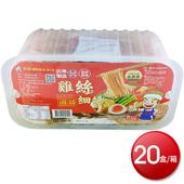 《箱購免運》吉好 雞絲細麵 6入(330g)x20盒(當歸藥膳)