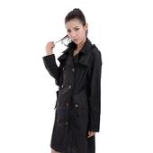 日系羽量感雙排扣風雨衣M (黑) 9015 $499