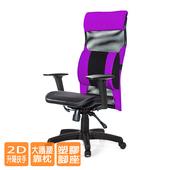 《GXG》高背電腦椅  (2D升降扶手/大腰枕) TW-170 EA2(請備註顏色)