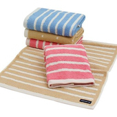 《MORINO》美國棉抗菌消臭橫紋毛巾超值3件組(花色隨機出貨)