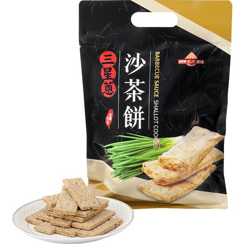 《康成》三星蔥沙茶餅(210g/袋)