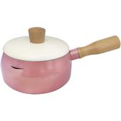 《西華》時尚木柄牛奶鍋14CM粉