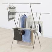 晴空不鏽鋼X型曬衣架(100-150x70x146cm)