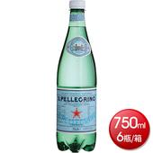 《聖沛黎洛》氣泡礦泉水-塑膠瓶750mlx6瓶 $210