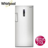 《Whirlpool 惠而浦》210公升直立式冷凍櫃-鈦金鋼WIFS08G(含拆箱定位)