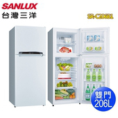 《SANLUX 台灣三洋》206公升雙門電冰箱SR-C206B1(含拆箱定位)