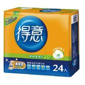 《得意》優質抽取式衛生紙100抽*24包 $220