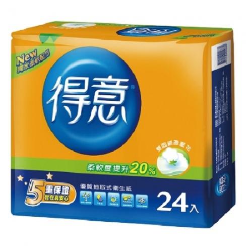 《得意》優質抽取式衛生紙(100抽*24包)