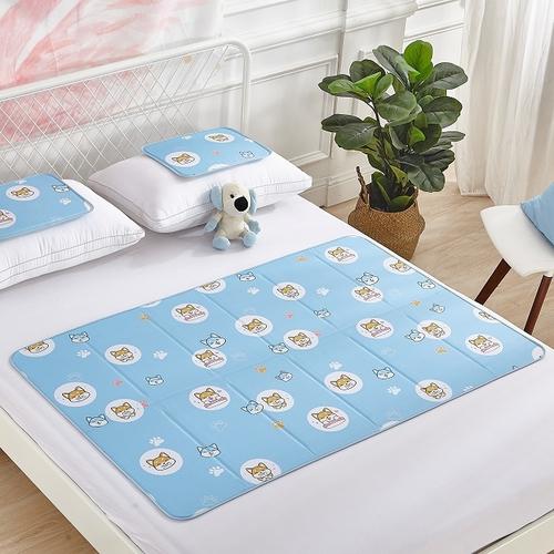 固態冷凝冰涼雙人床墊(柴犬款 90X140cm)