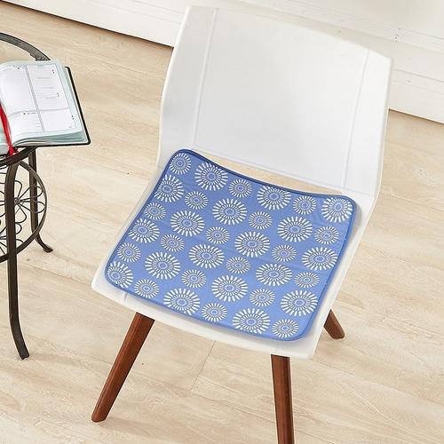 固態冷凝冰涼坐墊(水藍款 42X42cm)