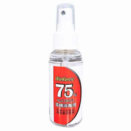 《威肯尼》75%酒精消毒液隨身瓶(80ml/瓶)