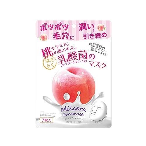 《日本Milcera》白桃面膜(7片/包)
