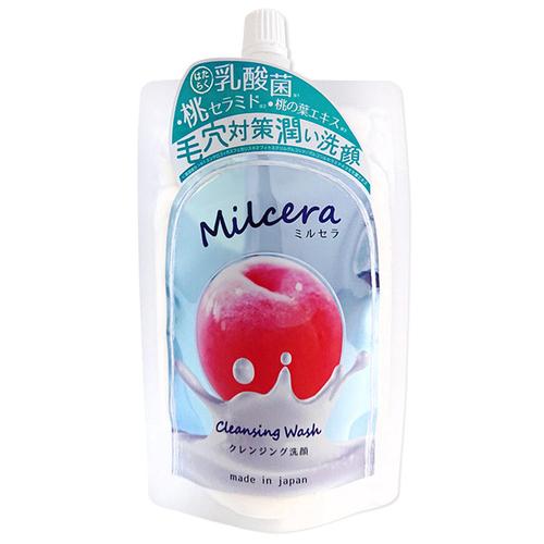 《日本Milcera》白桃保濕潔面乳(140g)