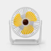 六吋桌上型帶燈風扇 USB風扇 桌扇(白色)