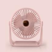 六吋桌上型帶燈風扇 USB風扇 桌扇(粉色)