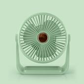 六吋桌上型帶燈風扇 USB風扇 桌扇(綠色)