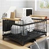 不銹鋼廚房碗碟收納架(46X31X23cm)
