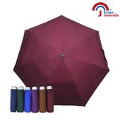 《【Kasan晴雨傘】》輕量五折銀膠遮陽傘(酒紅)
